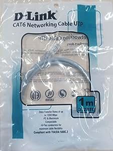 D-Link CAT-6 P NCB-C6UGRYR1-1 1-Meter Patch Cord (Gray)