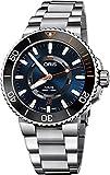 Oris Aquis date Staghorn ripristino Limited Edition uomo acciaio orologio automatico Diver–43mm blu quadrante dell' orologio analogico impermeabile Dive di lusso svizzero per uomini 0173577344185-set MB