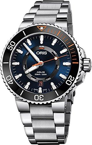 Oris Aquis Datum, Hirschhorn Wiederherstellung Limited Edition Herren Edelstahl Automatik Diver Armbanduhr–43mm...