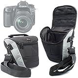 Housse étui de transport pour Canon EOS 80D et EOS-1D X Mark II, Sigma sd Quattro / Quattro H appareils photo SLR et leurs accessoires + bandoulière BONUS, par DURAGADGET