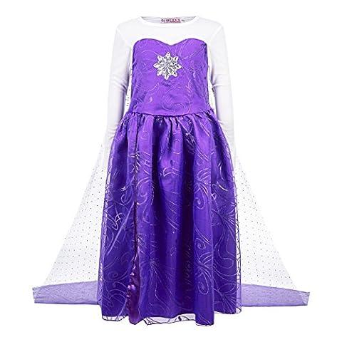 2016 Costumes À Thème Halloween - Katara - Frozen Robe violette étincelante d'Elsa