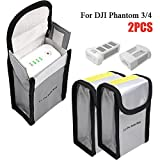 Glaray Lipo Batterie Safe Bag für DJI Phantom 4 Phantom 3 Feuerfest Explosionsgeschützte Lipo Batterie Guard Safe Tasche Beutel Sack für Charge & Storage (150x90x55mm *2PCS)
