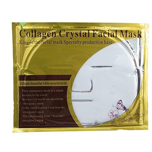 Mangotree 5pcs Super Hydratisierende Gesicht Crystal Collagen Tiefe Gewebe Verjüngung Gesichtsmaske Unisex (Weiß) -