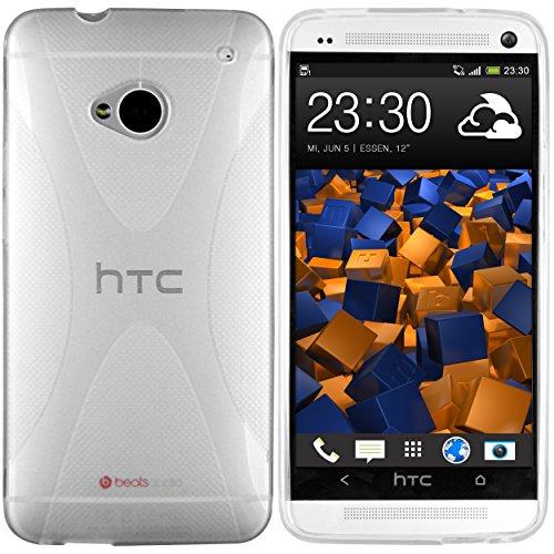 mumbi X-TPU Schutzhülle für HTC One Hülle transparent weiss (NICHT HTC One M8) (Htc M7 One Kamera)