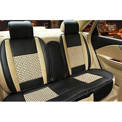 fuway Kit Cuscino per sedile auto cuscino lombare auto collo cuscino Ford F150F250F350B-Max C-Max S-Max Ranger Fiesta Fusion Mondeo Focus Taurus Explorer Edge Expedition 5sedili - Ford F250 A / C