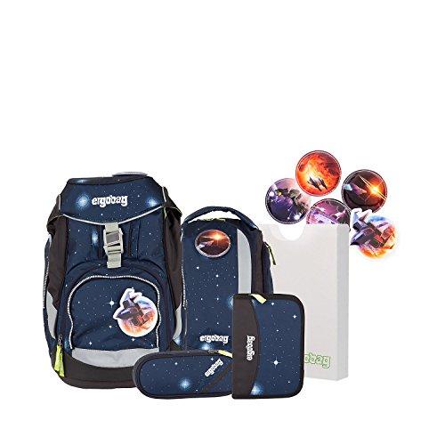 Ergobag Pack, KoBärnikus Galaxy, ergonomischer Schulrucksack, Set 6-teilig, 20 Liter, 1.100 g,