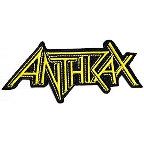 ANTHRAX Logo Punk Rock Heavy Metal Music Band Jacket shirt hat blanket backpack T shirt Patch Embroidered Appliques Symbol Badge Cloth Sign Costume Gift by Large husky music patches