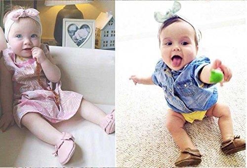 Gaorui Babys Toddler Mädchen Lauflernschuhe Moccasin Krabbelschuhe Hausschuhe mit Troddel Leder Rot