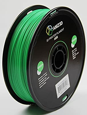 1.75mm Green ABS 3D Printer Filament - 1kg Spool (2.2 lbs) - Dimensional Accuracy +/- 0.03mm
