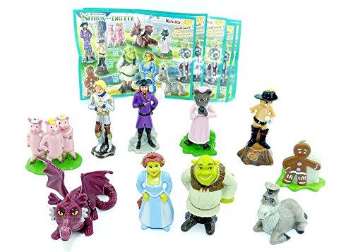 Kinder Überraschung Alle 10 Figuren zum Film Shrek der dritte mit allen BPZ und BAL