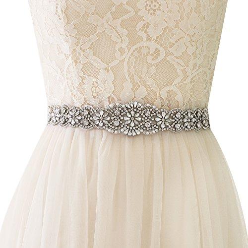 ULAPAN Strass Hochzeit Gürtel,Perlen Braut Gürtel,Strass Braut Schärpe Perlen Hochzeit Sash (Königsblau) Braut Kleid Kleid