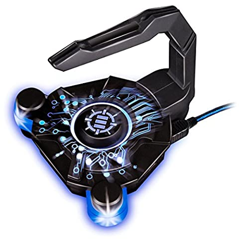 ENHANCE Maus Bungee mit Aktiv USB Hub / Mouse Kabelhalter für Gaming Mäuse wie SteelSeris Rival 300 MadCatz Logitech G502 MX Master Proteus VicTsing Dland Zelotes Sharkoon Razer DeathAdder und