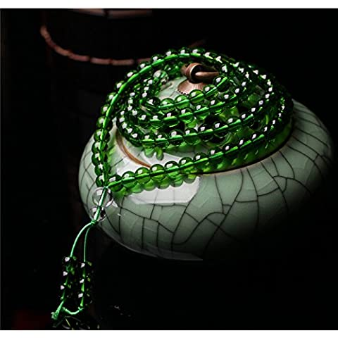 XJoel 108 Beads Mala 0,24 pollici preghiera amazzonite Bead Elastic String Buddista Bracciale pietra preziosa delle donne degli uomini del braccialetto di