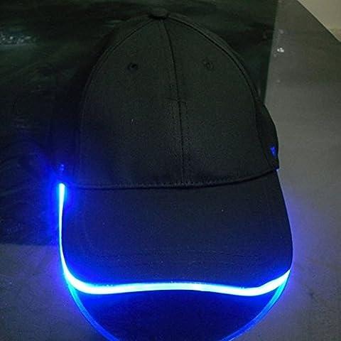Namsan Hombre Gorra Gorra de béisbol con luz LED Glow Party Cap linterna LED Cap, azul