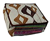 Indi Bargain Brown Synthetic Three Layered Wedding Multi Saree Cover