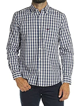 Carrera Jeans Camicia 213B1230A per Uomo, Stile Classico, Tessuto Tinto Filo, Vestibilità Normale, Manica Lunga