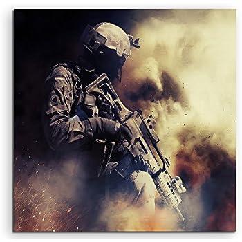 Pas de Poster ou de Poster ! Superbe et Unique Fantasy-Art Darksiders War Rides Impression sur Toile 60 x 60 cm Fabriqu/é en Allemagne Impression encadr/ée de qualit/é /à Suspendre