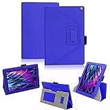 Medion Lifetab S10366 S10365 P10341 S10346 S10334 S10333 S10345 Tablet Hülle Schutzhülle passgenau praktische Standfunktion in 9 Farben Touch Pen Halterung aus hochwertige Verarbeitung, Farben:Blau
