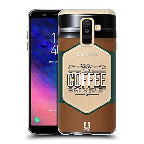 Head Case Designs Kaffeetasse Lebenswichtige Güter Soft Gel Hülle für Samsung Galaxy A6 Plus (2018)