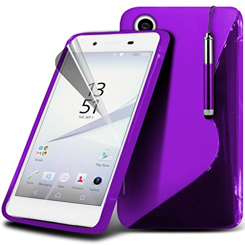 Case for <b>      Sony Xperia Z5 Premium / Sony Xperia Z5 Premium Dual    </b>     Case Universal Car Phone Holder Mount Cradle Dashboard & Windshield for iPhone y i -Tronixs Wave Gel + Pen ( Dark Purple )