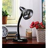 Wemex Table Lamp for Reading, Studying & Night Lamp(Matte Black)