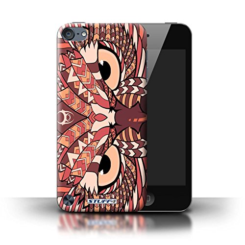 Stuff4® Hülle/Hülle für Apple iPod Touch 5 (5th Generation) / Eule-Rot Muster/Aztec Tier Muster Kollektion (Ipod 4. Generation Eule Case)