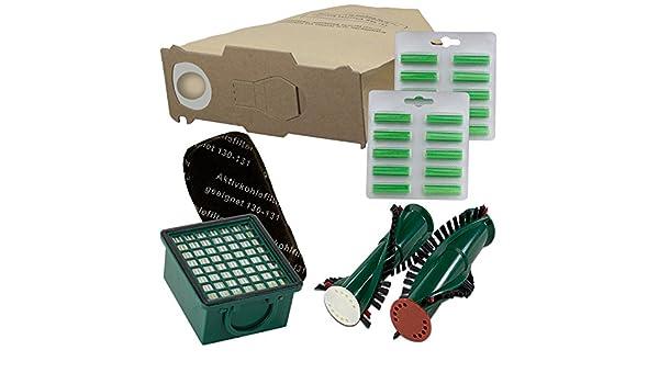 12 sacchetti filtro adatto per Vorwerk Folletto 130 131 con EB 350 351 BUSTINE