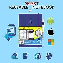 Cuir Ally Dexter Smart Erasable & Reusable Notebook, For Goals & Time Management, Includes Pen