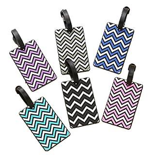 Fully 2x PVC Leder Gepäck Anhänger Koffer Reisengepäck Adresse Name ID Tag Bezeichner Anti-lost Schlüsselanhänger (Mustern zufällig)