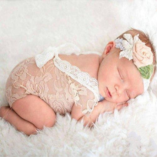 n niedlichen Baby Mädchen Fotografie Prop Weste Strampler mit Bowknot (Rosa) (Kostüme Babys)