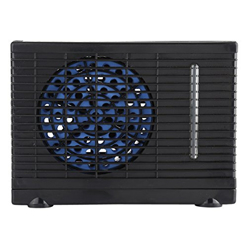 SOULONG 12 V portátil para Coche Ventilador de refrigeración de Aire, Ventilador de Aire Acondicionado,Automóvil Camión y hogar, Velocidad Ajustable Negro, 20 x 11 x 15 cm