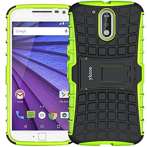 Moto G4 Hülle, G4 Plus Hülle ykooe (TPU Series) Dual Layer Hybrid Handyhülle Drop Resistance Handys Schutz Hülle mit Ständer für Motorola Moto G4 G4 Plus