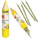 Unbekannt 3 Set´s _ 9 TLG. Set _ Stifte Buntstifte - mit XL Stiftebox als großer Stift -  Minions - ich einfach unverbesserlich  - inkl. Name - Buntstift / Stiftehalt..