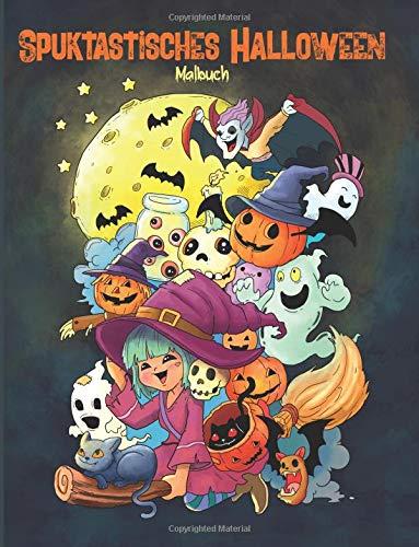 Spuktastisches Halloween - Malbuch: Ein Malbuch für Erwachsene und Kinder (Geschenke für Frauen, Jungen und - Halloween Vampiros De