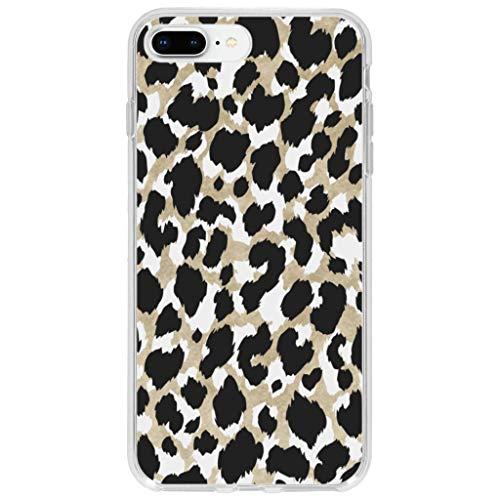 hCase kompatibel mit iPhone 7 Plus,iPhone 8 Plus Hülle Silikon - Leopard, Wildkatze, Tiermuster - Soft Case Handyhülle