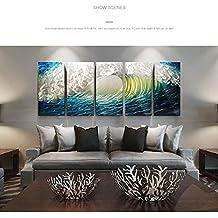 la verniciatura dei metalli puro paesaggio in alluminio lucidato a mano, della pittura del metallo,murale decorativo, decorazioni per la casa-le onde