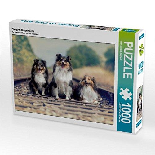 Die drei Musektiere 1000 Teile Puzzle quer (CALVENDO Tiere) Preisvergleich