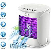LLDKA Intercooler Ventilador de Mesa con Mango de enfriamiento portátil de Aire Acondicionado desinfectante Condensador y humidificador
