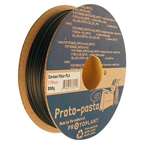 Proto-pasta Cfp11705The Original Bobine de fibre de carbone, PLA 1.75mm, 500g, Noir