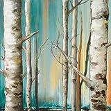 Birch Forest II Von Pinto, Patricia Kunstdruck auf Leinwand - Klein (76 x 76 cms )