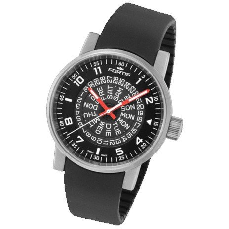 Fortis reloj hombre Spacematic Classic Black-Red automática 623.10.51 Si01