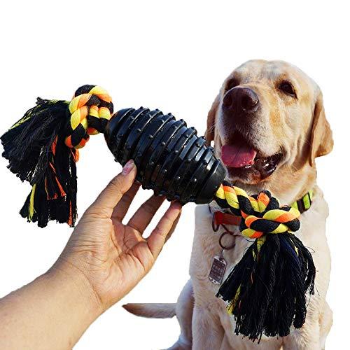 LANYUKEJI Robust Hundespielzeug Hartgummi Kauspielzeug Unzerstörbar mit Seil Interaktives Hunde Spielzeug Welpenspielzeug für Große Kleine Hunde