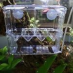 High-Transparent Self-Floating Multi-Function Fish Floating Fish Aquarium Hatchery Hatchery Box Double Layer Fish Tank… 8
