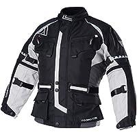 Modeka TOUREX KIDS Kinder Textiljacke - schwarz grau Größe 140