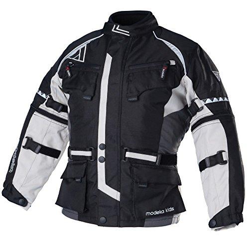 Modeka TOUREX KIDS Kinder Textiljacke - schwarz grau Größe 152