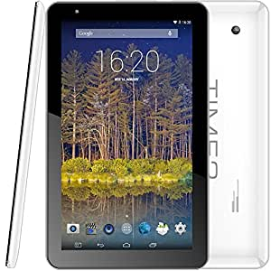 Time2® Tablette-PC 10.1 Pouces (Android 4.4.2 KitKat, Quad-Core ROCKCHIP processeur, Construit en Wifi)