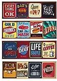 Compart Happy Days Teppichläufer, Küche, unterschiedliche Motive, zufällige Auswahl, rutschfester Boden, waschmaschinenfest, 57 x 230 cm