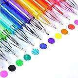 Kicode Penne aromatiche con punta fine 12 Colore Penne di colorazione Fineliner Penna acquerello in plastica Disegno dello schizzo Libri adulti di colorazione Bambini