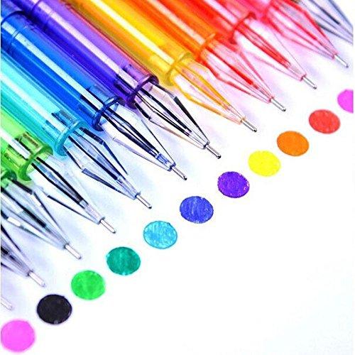 Foto de Kicode Plumas de gel de punta fina 12 colores Plumas para colorear Fineliner Pluma de acuarela de plástico Dibujo de boceto Libros para colorear adultos Niños
