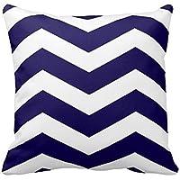Home Style Fashion Pillowcase Modern Chevron Stripes in Cobalt Blue